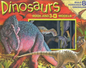 Dinosaurs Book and 3 D Models - Dinosaur Book and 3 D Models - Build Dinosaurs - 3 D Models - 3 D Dinosaurs