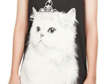 Cute Persian Cat Tank Top Kitten Shirt Persian Cat Kitty Animal Pet Art Design Tank Women Shirt Tunic Top Vest Tank Top M, L,XL - IZJBT107