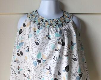 Aspen Blue Floral Print A Line Dress Size 12-18 months