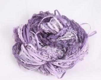 Amethyst Purple lilac Silk embroidery Thread Silk ribbon needlework supply Hand Dyed Variegated weaving yarn quilting thread embellishment