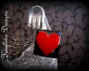 Heart inlay lock,  Fetish Padlock, Working Lock