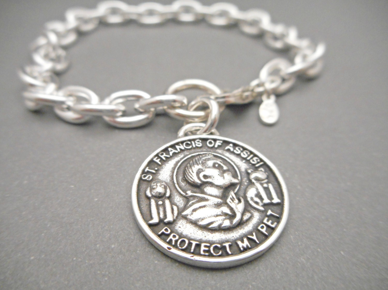 st francis of assisi charm bracelet womens bracelet