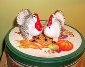 Vintage Turkey Hen and Tom Salt and Pepper Shakers Japan 1950s Thanksgiving Harvest S P
