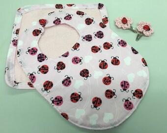3 Months Up Baby Bib Gift Set_Lady Bug