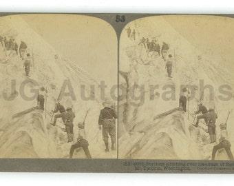 Mount Tacoma, Washington - 19th Century Stereoview Card - Vintage Photography