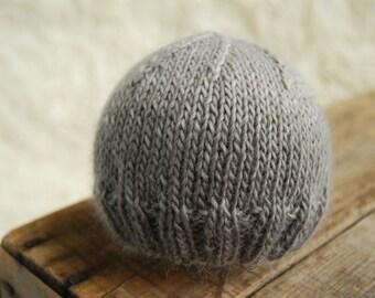 Newborn Boy Beanie Hat, Knit Alpaca Beanie Hat Newborn Beanie Hat Newborn Boy Photo Prop Hat Alpaca Baby Hat Boy Photo Prop, Newborn Size