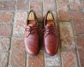 VTG Mens 10 Roc Sports by Rockport Quality Leather Burgundy Laced Casual Walking Shoes Spring Fashion Preppy Mr. Rogers Hipster Comfortable