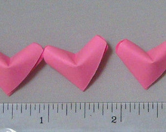 Small Origami Hearts (100) Pink Paper Hearts