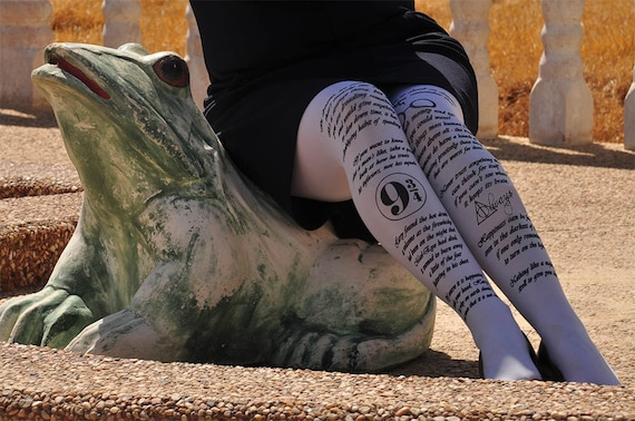 Harry Potter printed text and symbols - printed tights - Harry Potter clothing