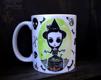 Eva The Witch Mug by Lupe Flores