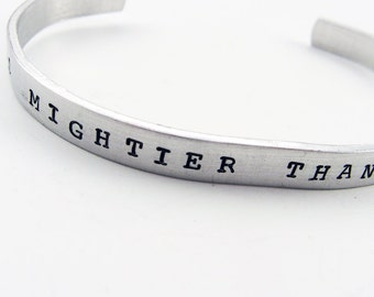 Writer Bracelet with Inspirational Quote for Novelist, Journalist, Editor (The Pen Is Mightier Than The Sword) - Adjustable Cuff