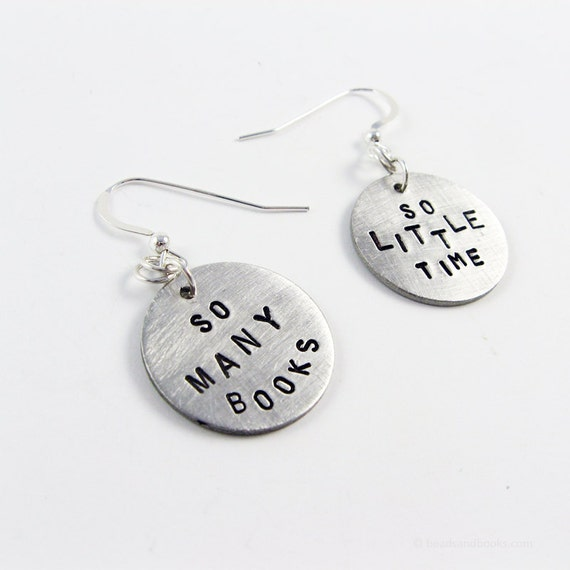 Reading Earrings: Book Lover Earrings Librarian Gift Book Club Love To Read