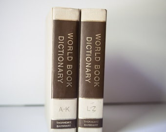 Vintage The World Book Dictionary's, Set of two A-Z, Complete Set
