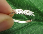 Silver Wing Ring - Angel Wing Ring - Angel Wing Jewelry - Feather Ring - Best Friends Ring - Stocking Stuffer - Christmas Sale