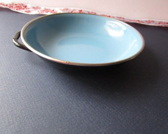 Vintage, Baby blue and black dish from 'Yugoslavia!