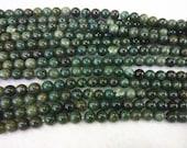 4mm/6mm/8mm/10mm/12mm Round Canada Jade Bead Semiprecious Gemstone Bead Strand Wholesale Beads 15''L Jewelry Supply Wholesale Beads