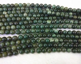 4mm  6mm  8mm  10mm  12mm Round Canada Jade Bead Semiprecious Gemstone Bead Strand Wholesale Beads 15''L Jewelry Supply Wholesale Beads