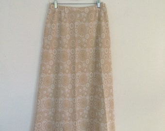 1960s MOD GEOMETRIC maxi skirt / hippie / bohemian / boho chic /