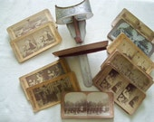 Vintage Stereoviewer Stereoscope And 44 Cards - H. C. White & Co., The Perfect Scope U.S.A. Patent Oct. 25 1895