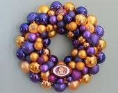 LSU TIGERS FOOTBALL Ornament Wreath