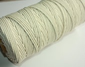 4 mm Cotton Rope - 1 Roll = 100 Meters = 109 Yards on Cotton Yarn Natural and Elegant COTTON TWISTED CORD