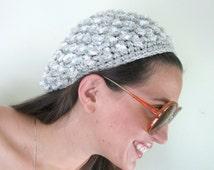 Silver Sequins Beret Lame Hat Tam