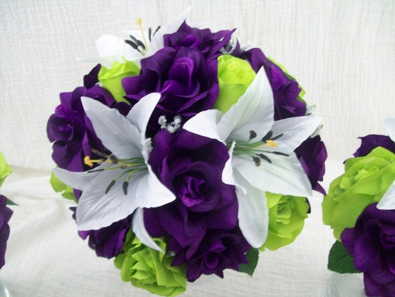 Purple And Lime Green Wedding Bouquets: Lime green and purple ...