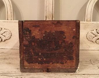Small Rustic Wood Box  - Perfect for Storage, Decor