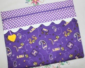 LSU Tigers Cross Stitch, Sewing, Embroidery Project Bag