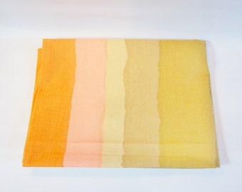 Vintage Modern Flat Sheet OMBRE STRIPES Un-used 1980s TWIN