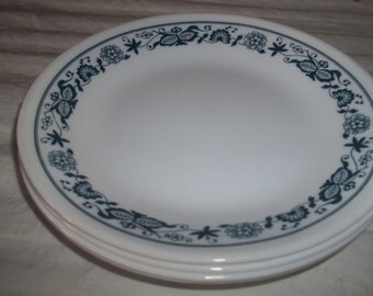"""SALE ****Set of 4 Corelle Old Town  Bread, or Salad Plates 6.75"""""""