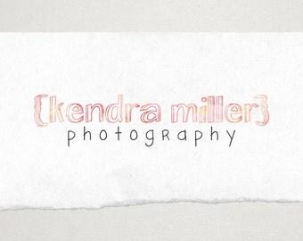 Premade Logo // Logo Design // Business Logo //  Photography Logo // Watercolor Logo/ Text Logo