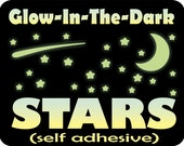 Glow in the Dark Stars, Stars for Ceiling, Glow Stars, Glowing Stars, Star Decals, Glow Stickers, Ceiling Stars, removable kids room decals