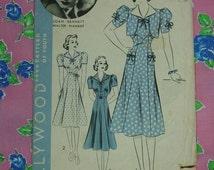 Vintage Pattern c.1940's Hollywood Movie Star Series No.1612 Joan Bennett Dress, Bolero Sz.14
