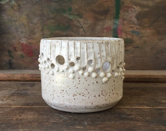 Geometric Boho White Candle Lantern - Summer - Patio - Home Decor - Outdoor - Lighting - Wedding - Bridal - Gift - Minimal - Luminary