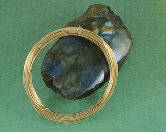 5 Feet 20ga Gold-Filled Wire - Round, Soft