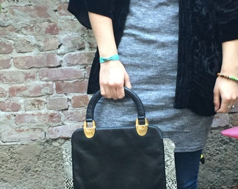 Feax Leather & Alligator Hand Bag