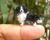 Border Collie - Tiny Crochet Miniature Dog Stuffed Animals - Made To Order