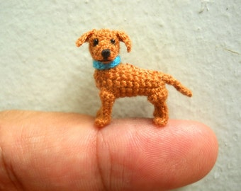 Miniature Ridgeback Puppy - Tiny Crochet Dog Stuffed Animals - Made To Order