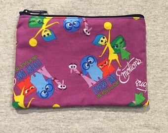Disney Inside Out pencil case/ Pixar pouch/ accessory bag, homemade, art bag