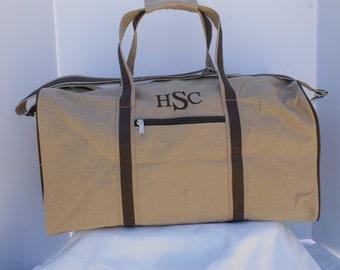 Monogrammed Duffle Bag, Men's Personalized Duffle Bag, Duffle Bag, Men's Travel Bag, Groomsmen Duffle Bag, Groomsmen Gift, Travel Duffle Bag