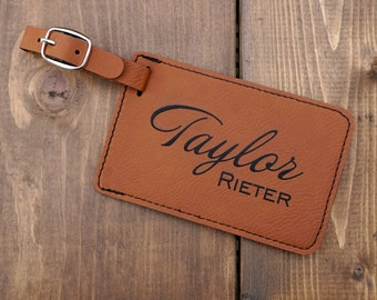 Personalized Luggage Tag Leather, Engraved Luggage Tag, Luggage Tags Personalized, Custom Luggage Tag, Travel Accessories, Luggage Tags