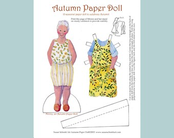 Autumn Paper Doll