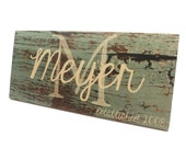 BARNWOOD SIGNS-Custom Established Signs-Christmas Gifts-Personalized family name signs make great housewarming gifts and custom home decor