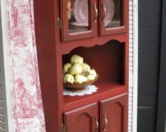 Rustic Corner Hutch Dining Room Kitchen Painted Furniture