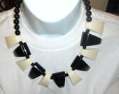 marion godart paris huge bib necklace black vanilla