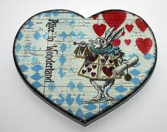 Alice In wonderland Heart Shaped Drinks Coaster