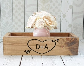 Rustic Wood Planter Box Centerpiece Planter Box Wedding Centerpiece Box Wood Rustic Wedding Centerpiece Rustic Home Decor