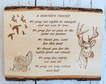 Hunters Prayer Basswood Plaque Hunters Gift Anniversary Gift Gifts For Him Engraved Wood Plaque Prayer Sign