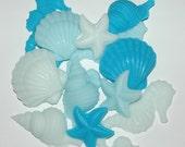 Seashell Soap ~ Aqua Sea Shell Soap ~ Decorative Shell Soap ~ Sea Horse Soap ~ Starfish Soap ~ Clam Shell Soap ~ Spiral Shell Soap